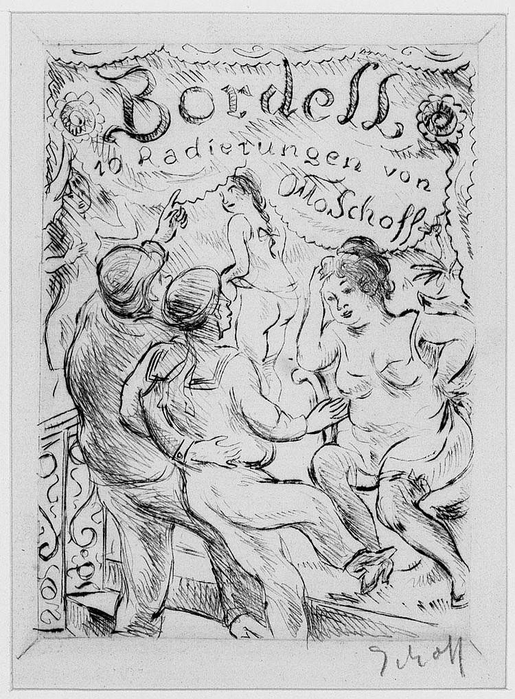 Schoff, Otto: Bordelle. 21 Radierungen. Um 1910