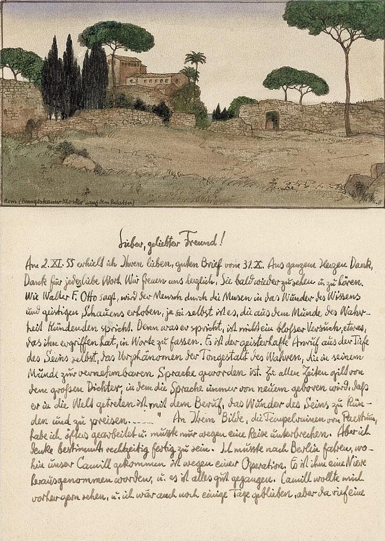 Gugg, Hugo: Konvolut Briefe mit Zeichnungen