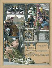 Fischer-Cörlin, Ernst Albert: Huldigungsblatt (Gouache) für Arthur Vollmer