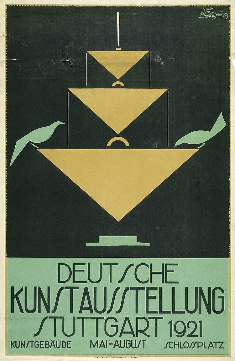 Brackenhammer, Rudolf: Deutsche Kunstausstellung Stuttgart 1921