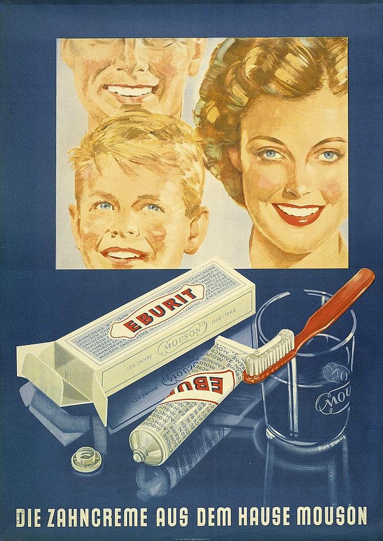 Glombig, Kurt: Eburit. Die Zahncreme Mouson. Frankfurt 1948
