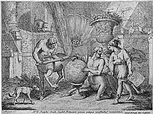 Zompini, Gaetano: Der Centaur Chiron unterrichtet den Knaben Achilles in der Geographie