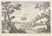 Zompini, Gaetano: Flusslandschaft mit Viehtreibern