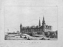 Hansen, Constantin: Schloß Kronborg, vom Nordwesten gesehen