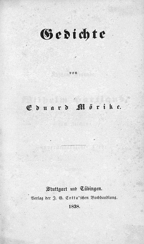 Mörike, Eduard: Gedichte