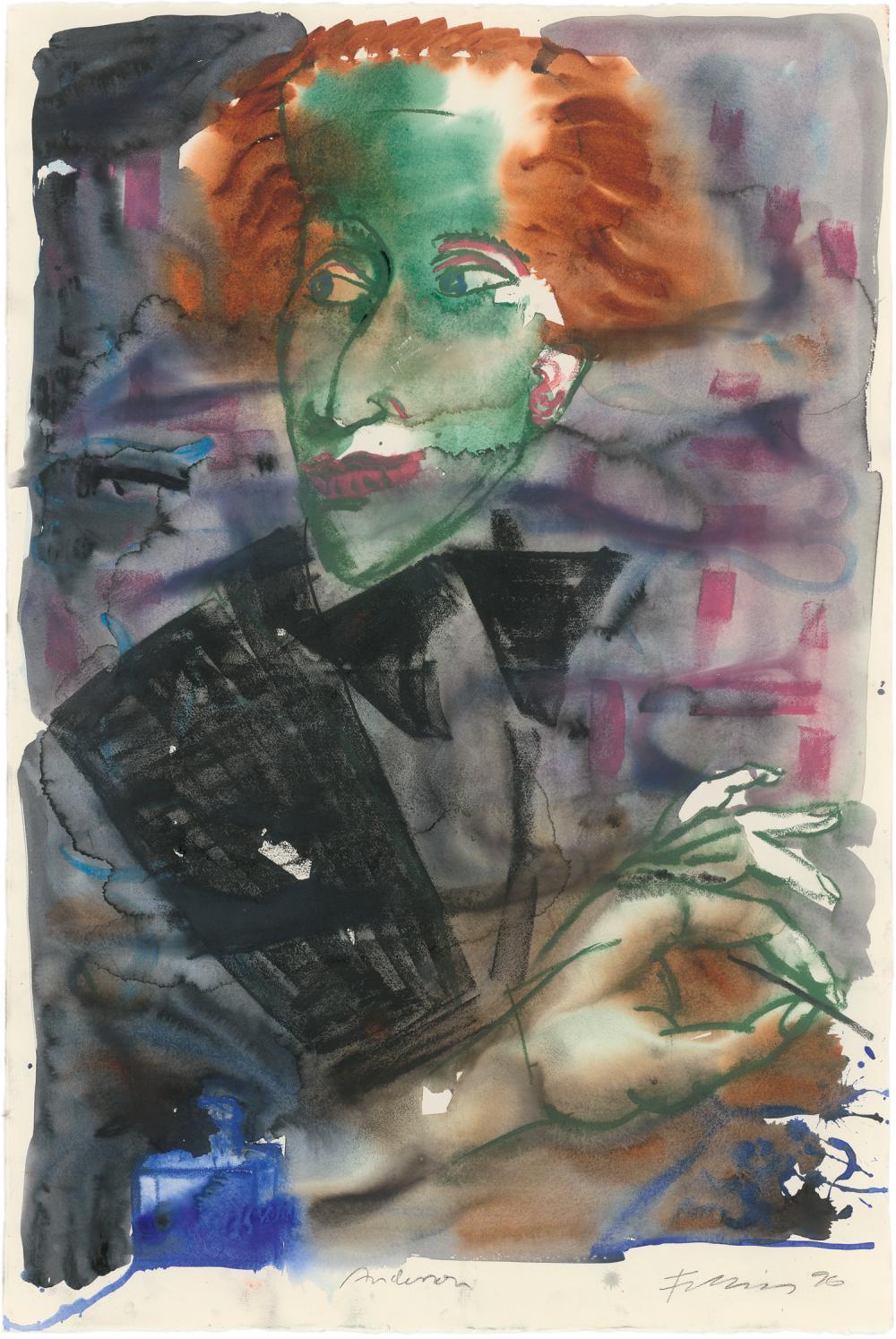 """Fetting, Rainer: """"Andersen"""" (Porträt Hans Christian Andersen)"""