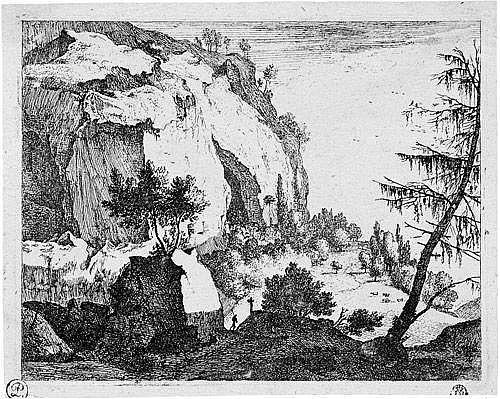 Roghman, Roelant: Felsige Berglandschaft mit der Tanne