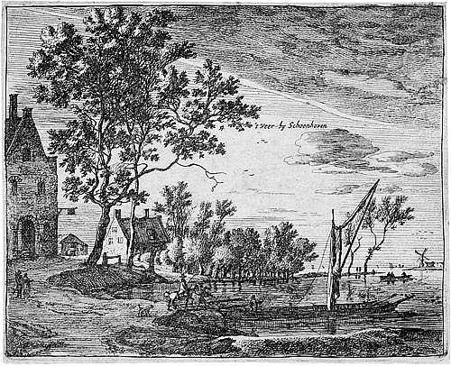 Roghman, Roelant: Ansicht von Schoonhoven