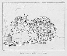 """Gagneraux, Bénigne: """"Dix-huit estampes au trait composées et gravées à Rome par Gagneraux"""""""