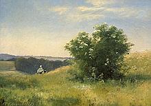 Aagaard, Carl Frederik: Frühlingslandschaft mit Holunderblütenbusch