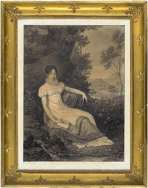 Lot 6653: Leroy, Joseph François: Bildnis der Caroline de lEspinasse