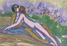 Melzer, Moriz: Liegendes Paar