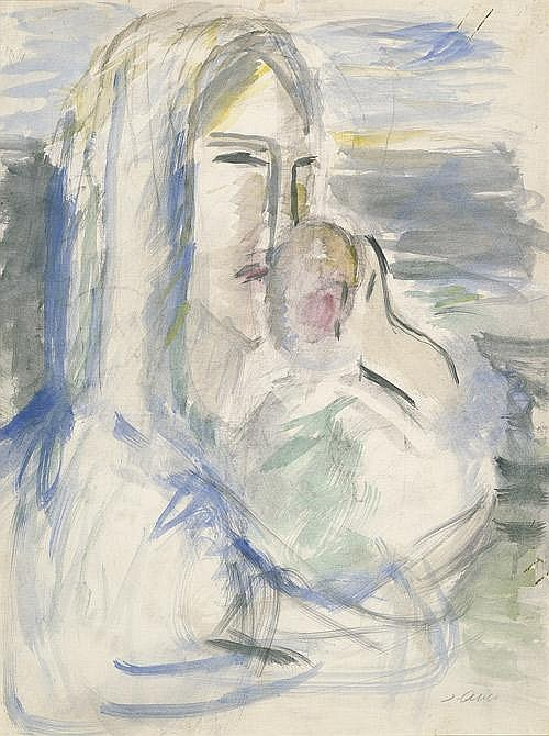 Abbo, Jussuf: Mutter mit Kind