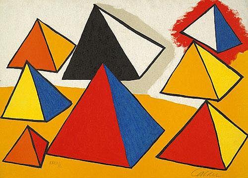 Calder, Alexander: Huit Formes en Pyramides
