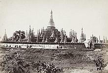 Burma: Group of Pagodas near Rangoon;