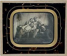 Daguerreotypes: Group portrait of four young artists