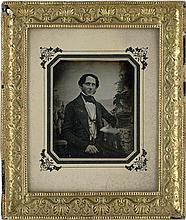 Daguerreotypes: Portraits of a man and woman