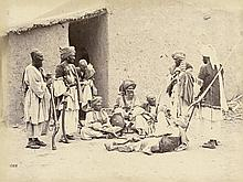 Afghanistan: Natives of the Peshawar Valley; Group of Natives from near the Khyber Pass; Group of Afredees from the Khyber Pass); Group of Armed Mongols