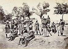 Second Anglo-Afghan War: The Highlanders of Amir Yaqub at Gandamak; Candahar Siege Group 1880; Group portrait of Scottish military officers