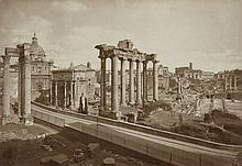 Anderson, Domenico: View of the Forum Romanum; View of St. Peter's Basilica over the Tiber River