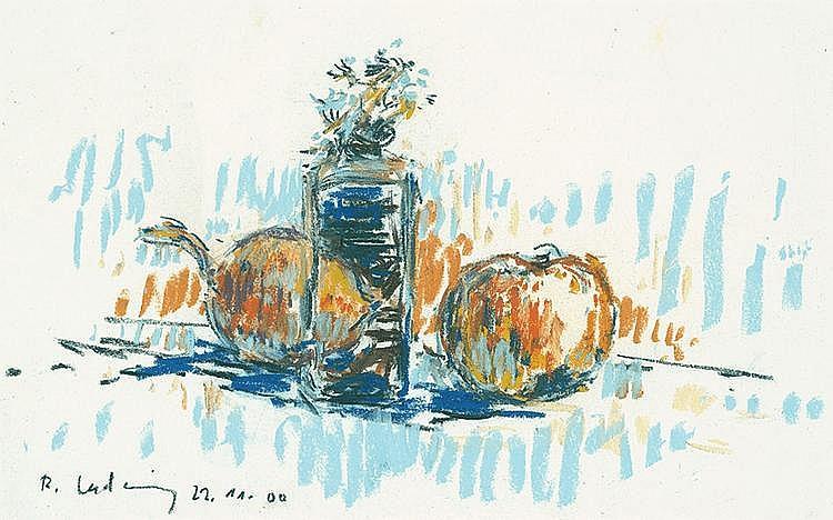 Ladwig, Roland: Stilleben mit Äpfeln und Vase