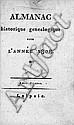 Almanac historique généalogique: pour l'année 1808 (unzensierte franz. Ausgabe)