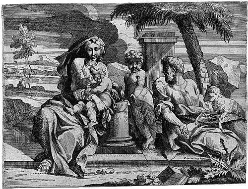 Friquet, Jacques: Die Ruhe auf der Flucht mit hl. Johannes