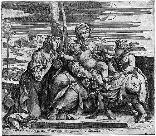 Friquet, Jacques: Madonna mit dem Kind, hl. Johannes
