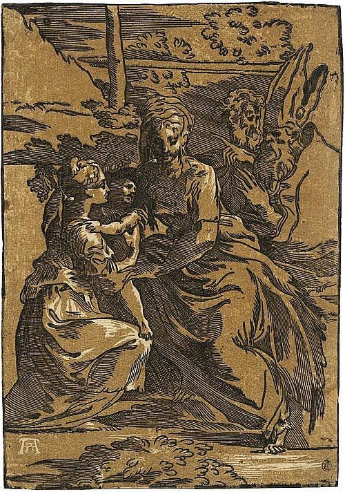 Andreani, Andrea: Die Madonna mit Kind und Heiligen