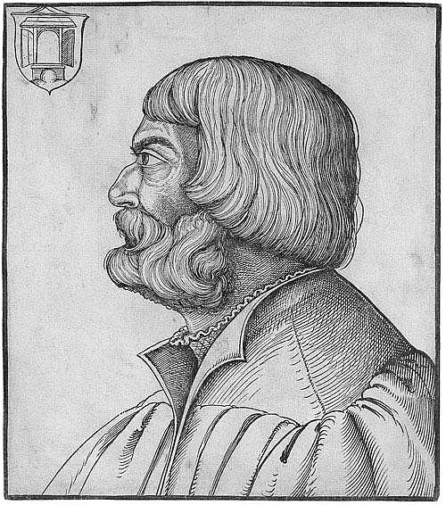 Schön, Erhard: Bildnis Albrecht Dürer im Profil
