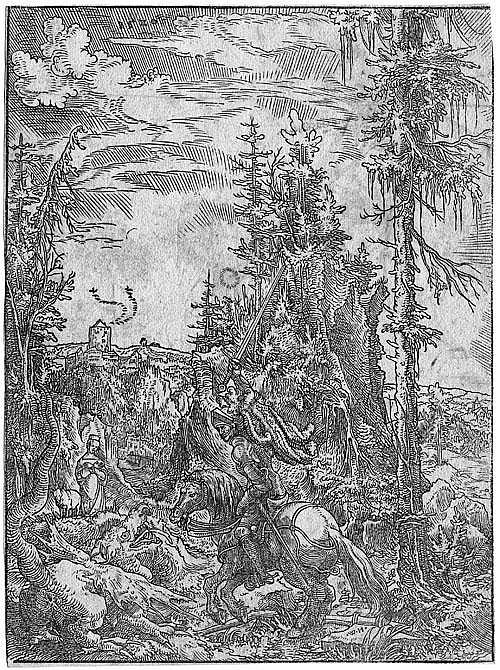 Huber, Wolf: Der Hl. Georg mit dem Drachen