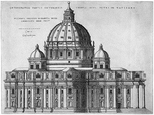 Brambilla, Ambrogio: Ortografia del tempio di San Pietro