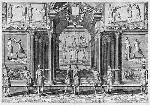 Thibault d'Anvers, Gérard: Tafel XIII und XVI der Academie de l'Espée