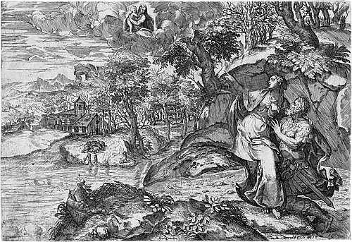Angolo, Marco d´: Die tiburtinische Sibylle zeigt Kaiser Augustus die Erscheinung der Jungfrau mit dem Kinde