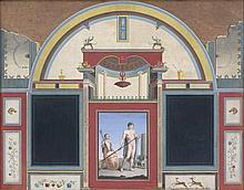 Campanella, Angelo: Wanddekoration aus der Villa des spanischen Legaten in Rom