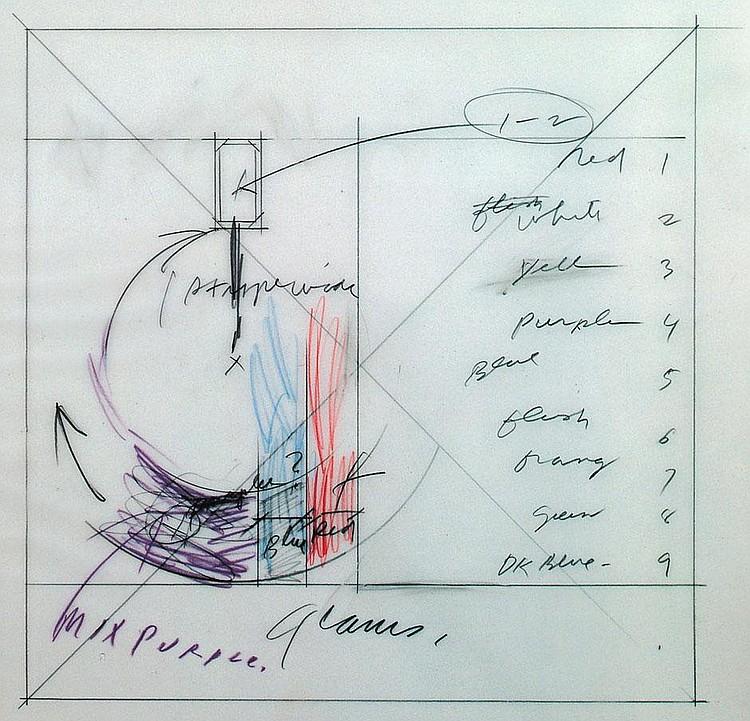 Jackson, Richard: entstehung eines wandbildes 1988 in glarus