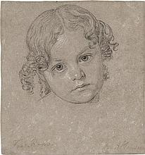Hansen, Constantin: Studie eines römischen Mädchenkopfes
