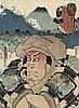 Kunichika Toyohara: Toyokuni III. 2 japanische Farbholzschnitte, Toyohara Kunichika, €200