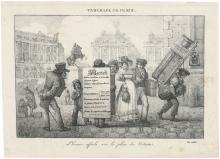 Marlet, Jean-Henri: L'homme affiche sur le Place des Victoires