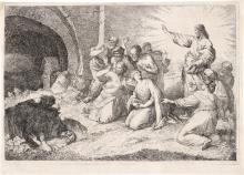 Zompini, Gaetano: Die Auferweckung des Lazarus