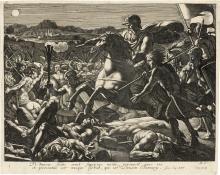 Corneille, Michel-Ange: Abraham befreit Lot