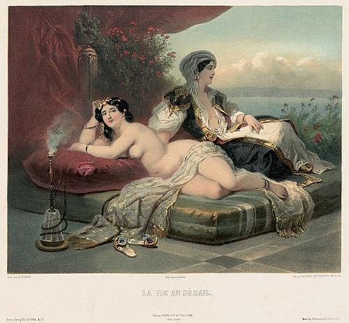 Guérard, Eugène-Charles-Fr.: La vie au Sérail. Berlin, Goupil, 1859