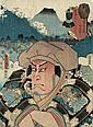 Kunichika Toyohara: Toyokuni III. 2 japanische Farbholzschnitte, Toyohara Kunichika, Click for value