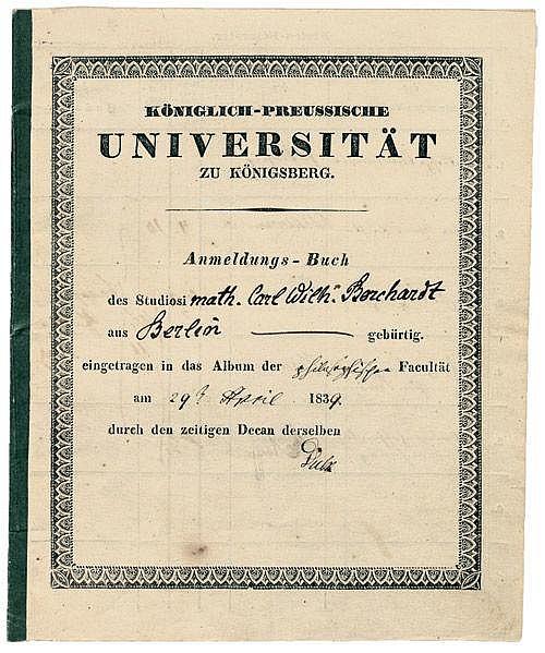 Borchardt, Carl Wilhelm: Schriftlicher Nachlaß