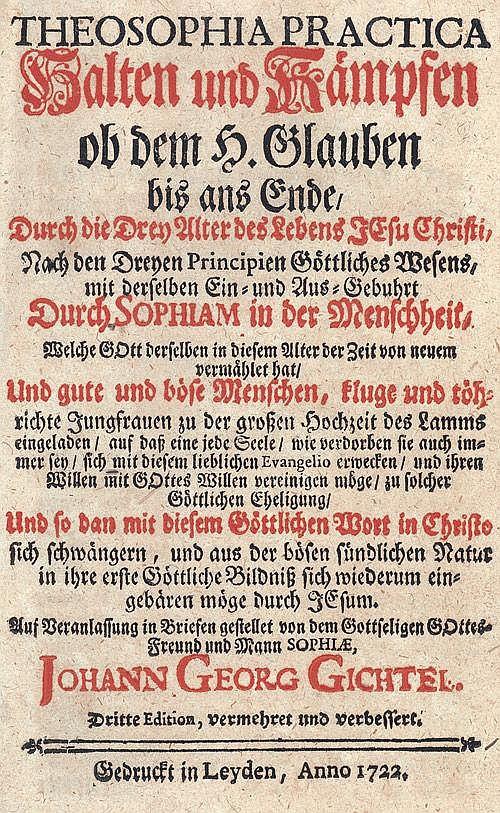 Gichtel, J. G.: Theosophia Practica