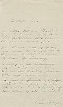Heyse, Paul: Signiertes Gedichtmanuskript 1868