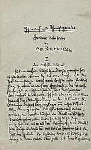 Hartleben, Otto Erich: Manuskript