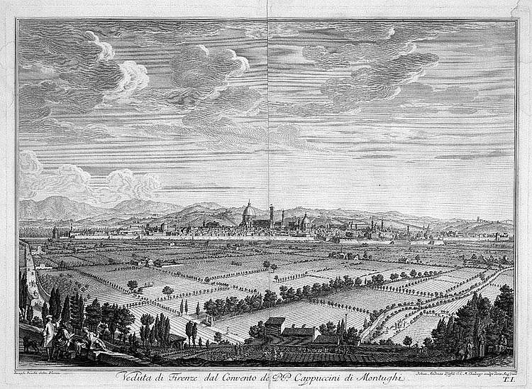 Pfeffel, Johann Andreas: Veduta di Firenze