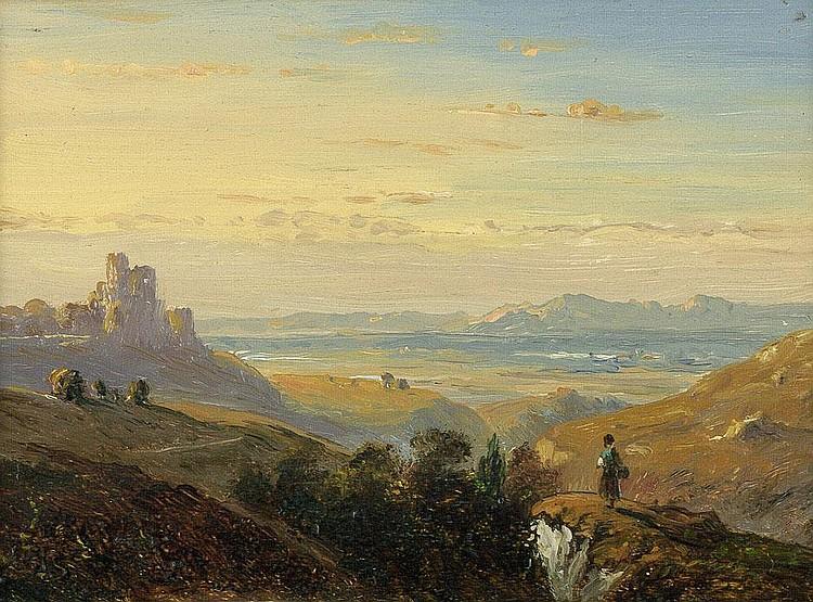 Sporrer, Philipp: Blick über ein weites Gebirgstal