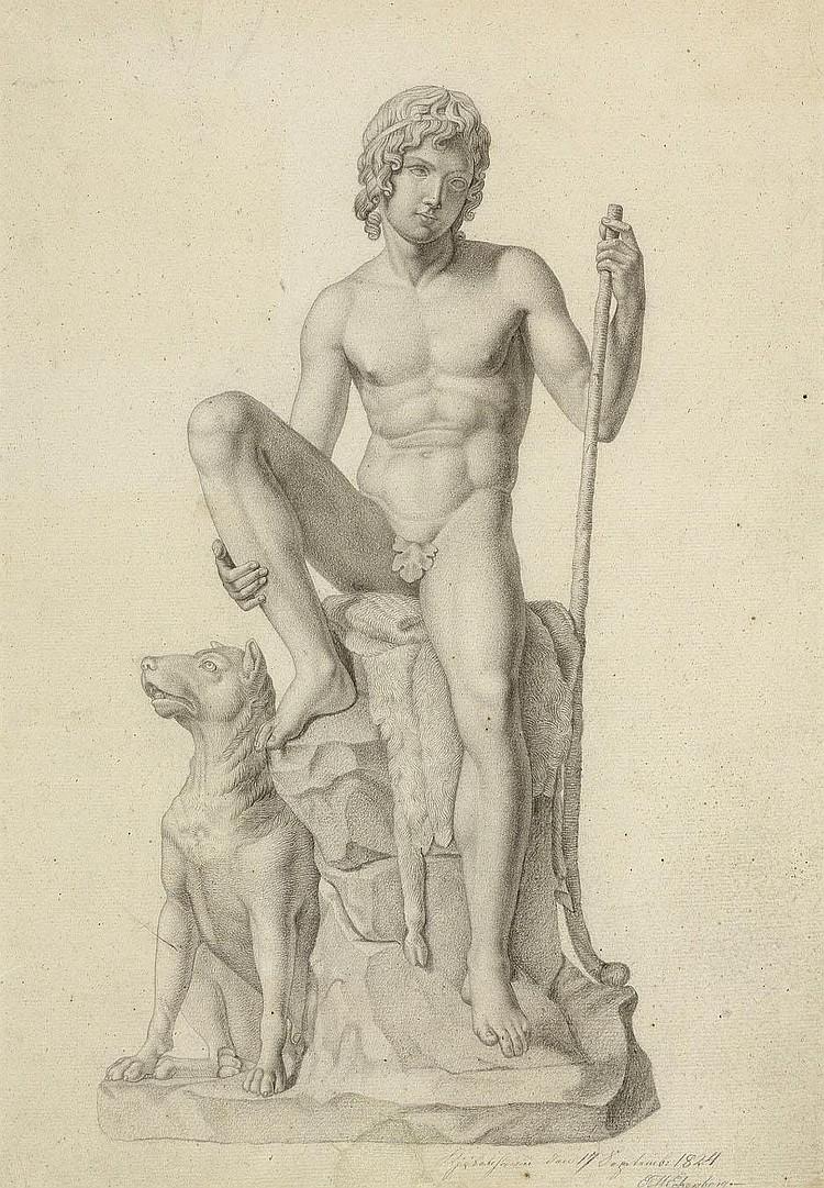Eckersberg, Erling Carl Vilhelm: Junger Hirtenknabe mit seinem Hund